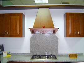 Detail of kitchen extractor hood. Kitchens, kitchen appliances, doors