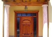 Entrance door. Kitchens, kitchen appliances, doors